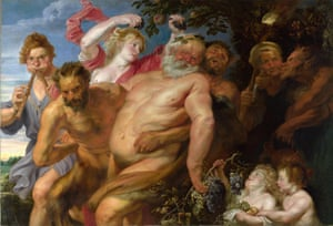 The Drunken Silenus Supported by Satyrs, possibly by Anthony van Dyck, circa 1620.
