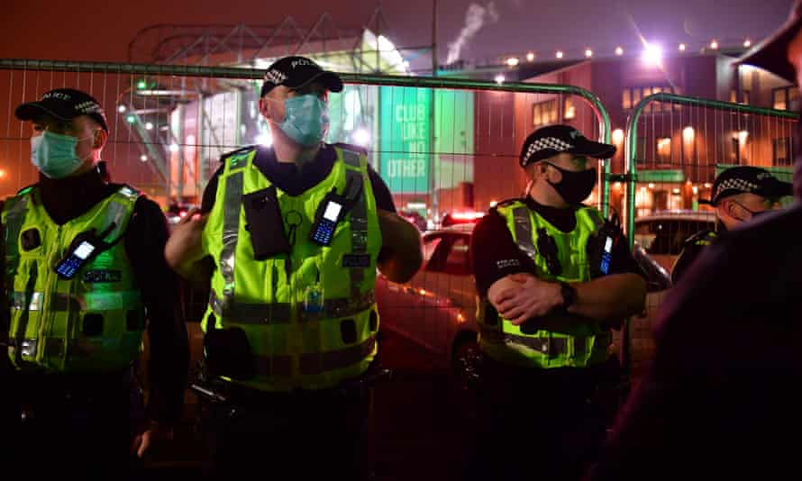 Police outside Celtic Park
