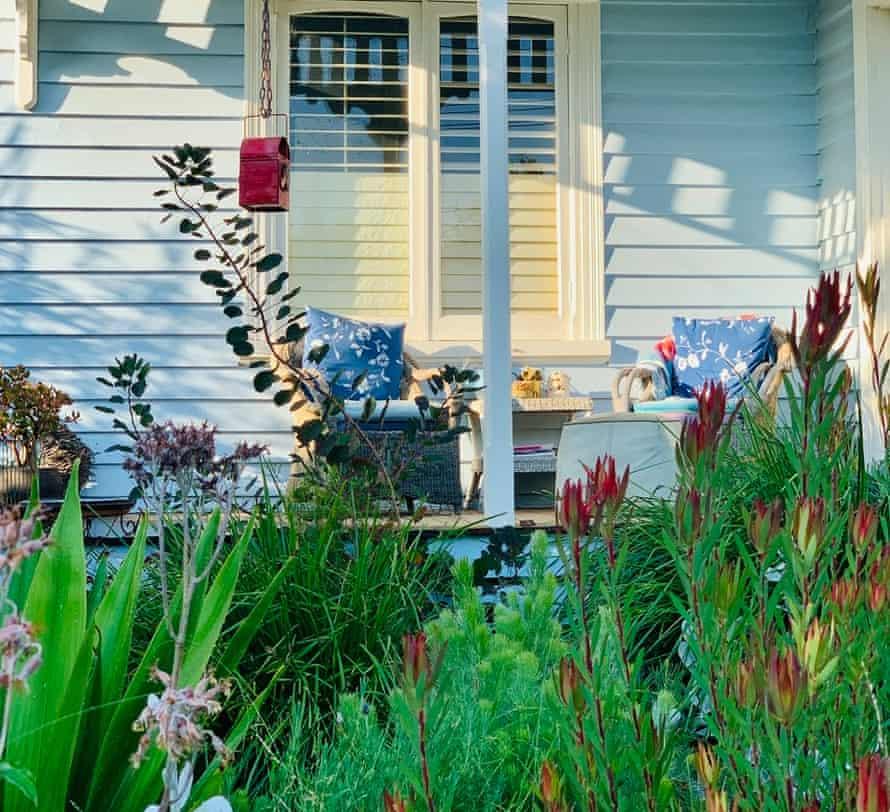 Linda Betts's Melbourne front garden, with veranda