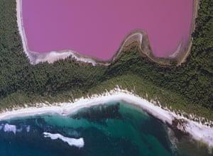 Red Rocks White Sands Pink Water Western Australia In