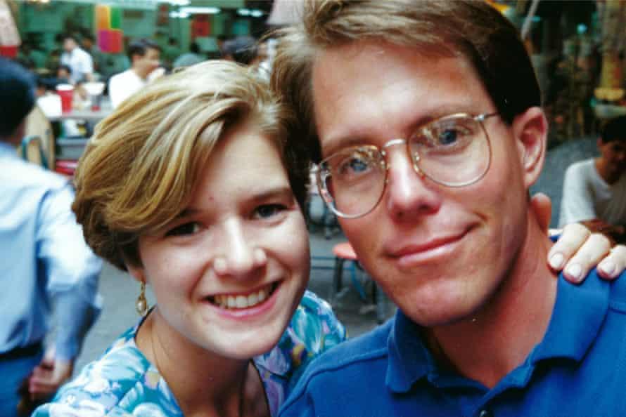 Amy and Richard on their 1992 Hong Kong honeymoon.