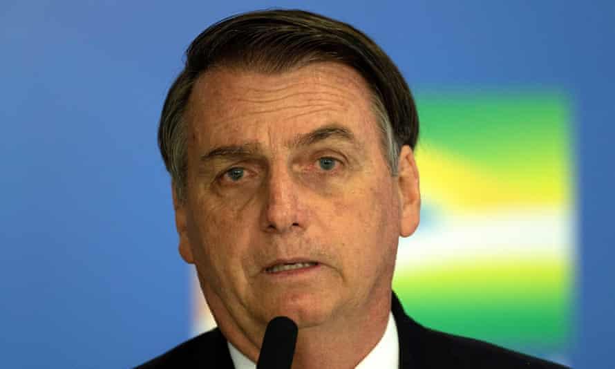 The president of Brazil, Jair Bolsonaro