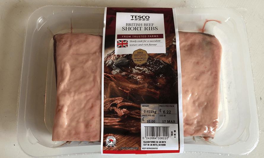 Tesco short ribs … before …