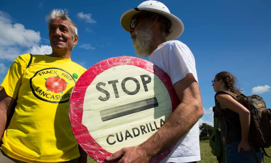 Thomond. WESTBY, 15th August 2014 - Anti Fracking campaigners on their six day reclaim the power camp near Westby, Lancashire, where Cuadrilla are planning to extract shale gas by fracking.