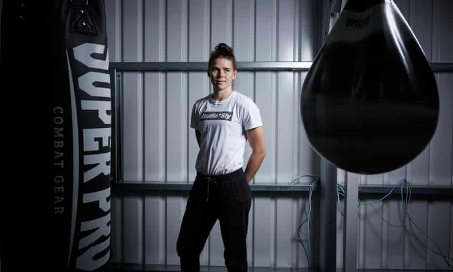 British fighter Savannah Marshall at her training camp in Congleton, Cheshire. She is he is the only woman to have beaten Claressa Shields, the world's best female boxer.