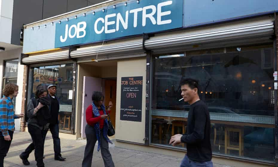The Job Centre bar on Deptford High Street in south London.
