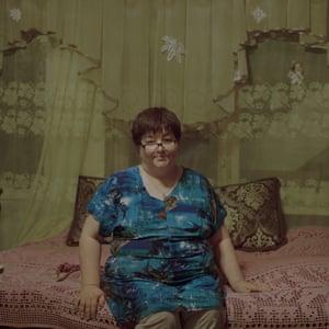 Alexandra Velichkevich in her apartment near St Petersburg.