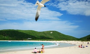 Flamenco Beach at Culebra, one of the attractions – along with next to no taxes – for foreign investors thinking of relocating to Puerto Rico.