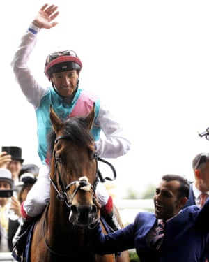 Frankie Dettori is on the Gold Cup favourite and looks unstoppable right now.