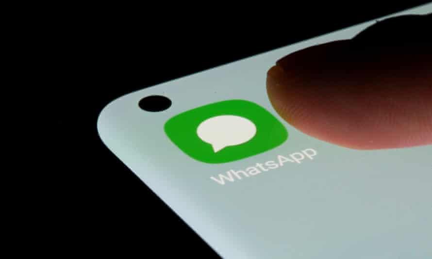 WhatsApp app on smartphone