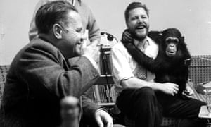'Covering up what was going on with a laugh, a joke, a good story,' ... Lawrence and Gerald Durrell (right).