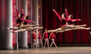 A scene from Rubies from Jewels by The Royal Ballet, at the Royal Opera House, Covent Garden.