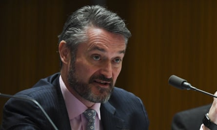 Deputy Chair of the Australian Securities and Investments Commission (Asic) Daniel Crennan, pictured here at Senate hearings, has resigned.