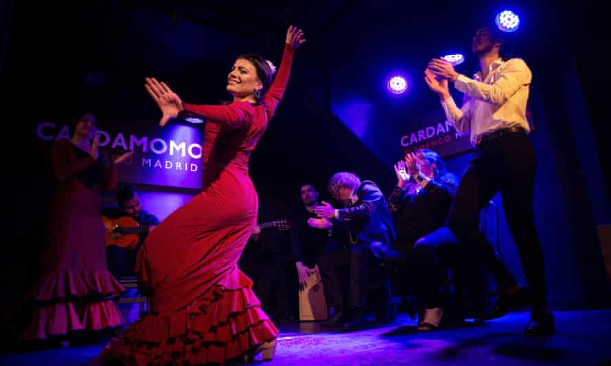 Flamenco dancer Lisi Sfair performs at Cardamomo, one of few tablaos still open.