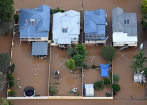 Flooded homes in Lismore