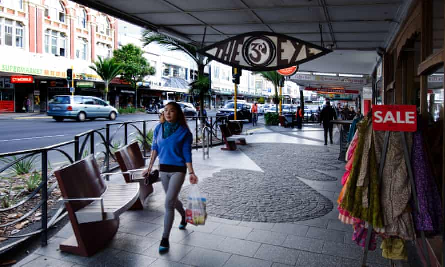 Shopper in Karangahape in Auckland city, New Zealand