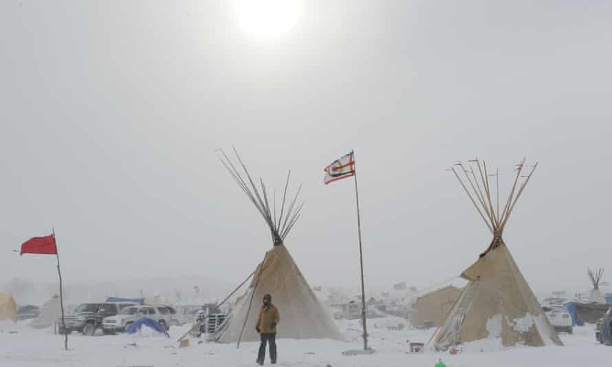 Oceti Sakowin (Sacred Stone) camp near the Standing Rock Reservation, Cannon Ball, North Dakota, United States on December 6, 2016.