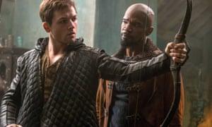Taron Egerton and Jamie Foxx in Robin Hood