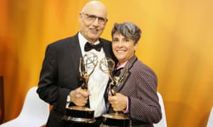 Golden moment: at the Emmys in 2016 with Jeffrey Tambor.