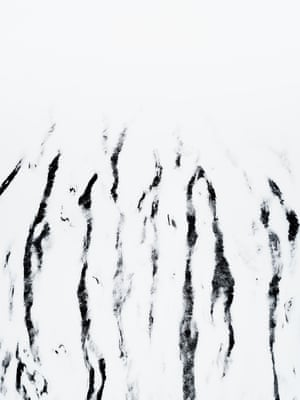 Snow Lines (2017) Hidden patterns of a mountain slope revealed upon the first dusting of snow, Hekla, Iceland