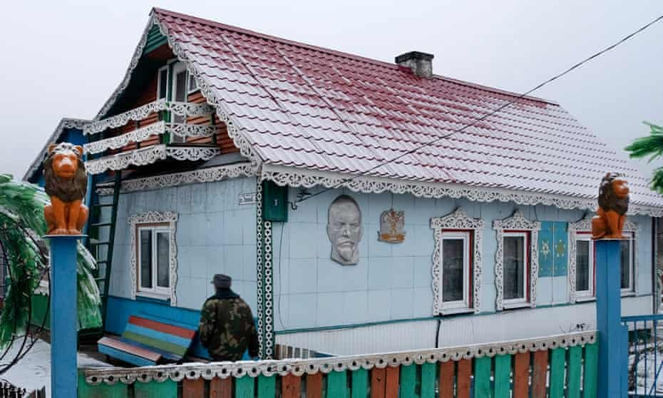 Siarhei Stasienok, 65, approaches his home in Kalinichy, which is on the edge of the Chernobyl exclusion zone.