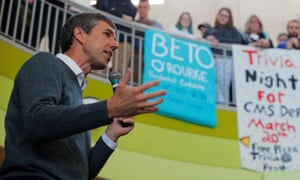 Democratic 2020 U.S. presidential candidate O'Rourke speaks in Plymouth<br>Democratic 2020 U.S. presidential candidate and former U.S. Representative Beto O'Rourke speaks during a campaign stop at Plymouth State University in Plymouth, New Hampshire, U.S., March 20, 2019. REUTERS/Brian Snyder
