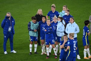 Chelsea's team reflect after the match.