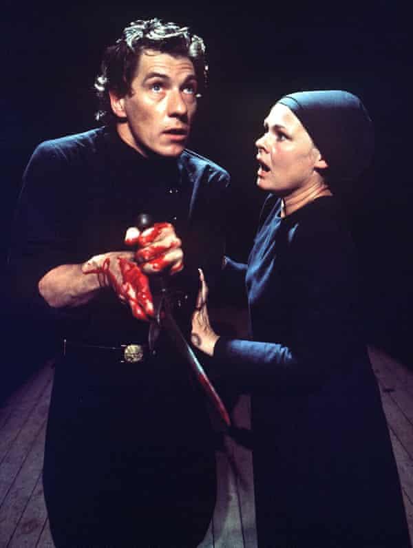 Will he say wooky-nook? … Judi Dench and McKellen in Macbeth at Stratford, 1976.