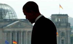 Barack Obama in Berlin in 2008.