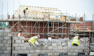 Builders on a new-build house