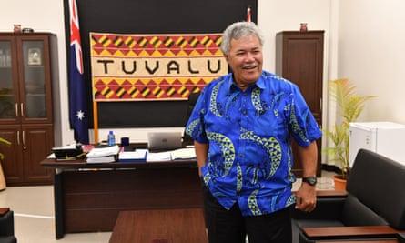Tuvalu's PM Enele Sopoaga