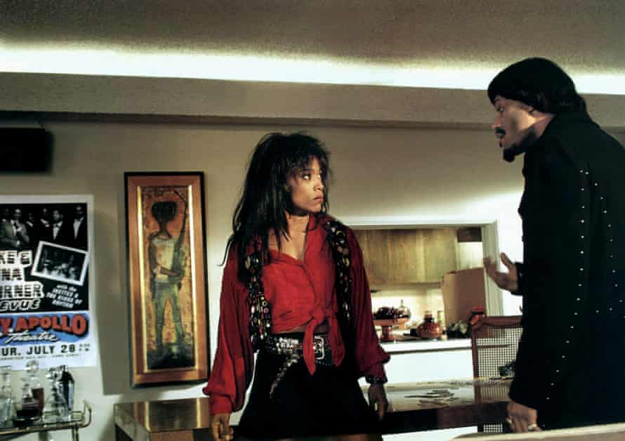 Playing Tina Turner, with Laurence Fishburne as Ike Turner in What's Love Got to Do With It?