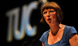 Frances O'Grady, the TUC's general secretary, says the government's savings drive at the time of rising demand is unsustainable.