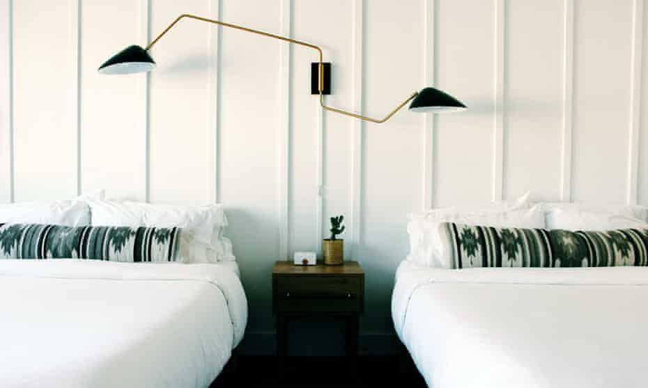Bedroom at Amigo Motor Lodge, Salida, Colorado