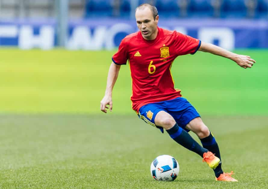 Andres Iniesta in action during the recent 6-1 international friendly win over South Korea