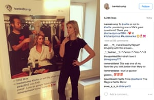 'That abomination of narcissism, a selfie of a selfie' … Ivanka Trump poses with Richard Prince's work.