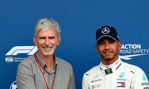 Damon Hill, the 1996 F1 drivers' champion, says seven-times title winner Lewis Hamilton is 'using his fame for positive purposes'.