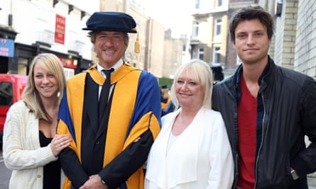 Richard and Judy with daughter Chloe and son Jack, when Richard received an honorary degree in East Anglia.