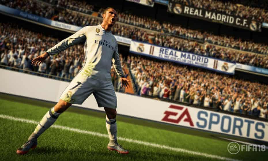 It's that man again … Cristiano Ronaldo in Fifa 18.