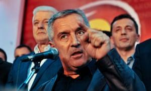 The Montenegrin prime minister, Milo Đjukanović.