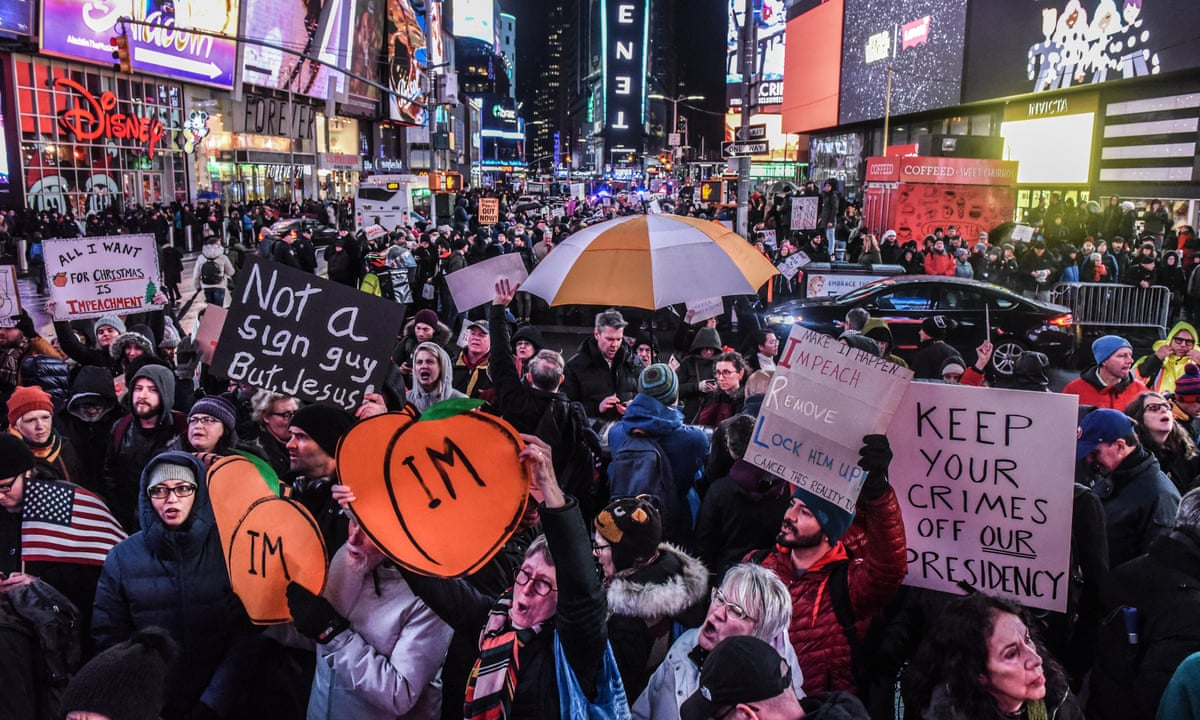 Nobody is above the law': Americans take to streets in support of ...