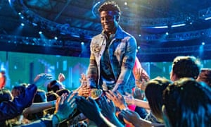 Chadwick Boseman accepts the Best Performance in a Movie award for Black Panther onstage during the 2018 MTV Movie And TV Awards in Santa Monica, California on 16 June 2018.