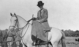 Gertrude Bell on horseback in Baghdad, 1917