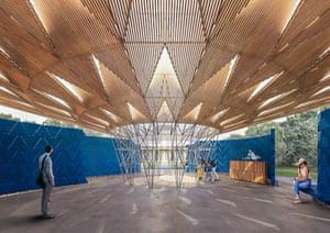 Interior design for Francis Kéré's Serpentine pavillion.
