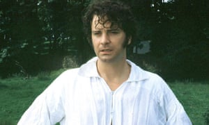 Actor Colin Firth as Mr Darcy in an adaptation of Jane Austen's Pride and Prejudice.