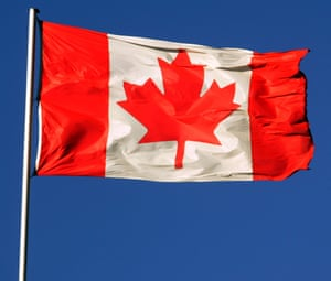 The flag of Canada