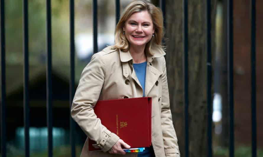 Justine Greening arriving in Downing Street
