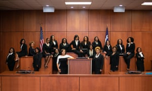 The 19 successful women in Harris county. Erica Hughes, who was elected to a criminal court position, wrote: 'We want to turn Harris county upside down.'