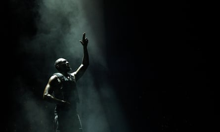 Stormzy performs on the Pyramid stage on day three of the Glastonbury festival.