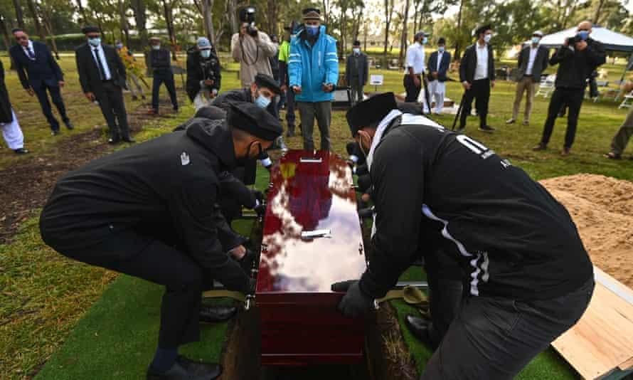 Burial of Ayaz Younus